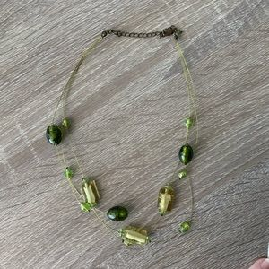 Jewelry - ⭐️ 3/$12 Multi strand Green Glass Bead Necklace